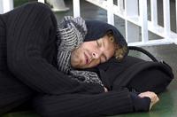 Chris Martin dorme.
