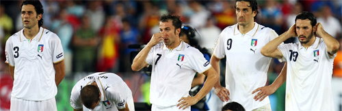 Spagna vince ai rigori, l'Italia va a casa